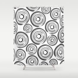 Enso Circles - Zen Circles pattern #1 Shower Curtain