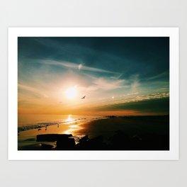 Winter Ocean Sunset Art Print