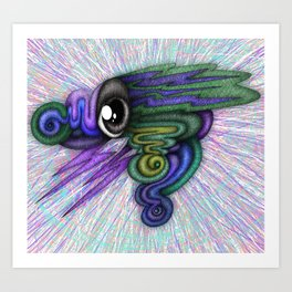 Psicho-eye Art Print