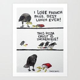 Bird no. 123: The Thief of Joy - Paper Background Art Print