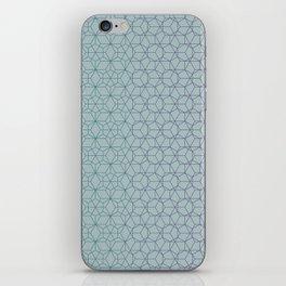 Tessellation - Culture Clash - Polytone Teal / Indigo iPhone Skin