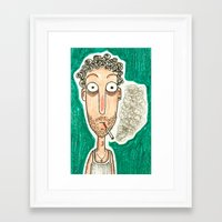smoking Framed Art Prints featuring SMOKING by t i t i l l a