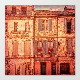The Old Neighborhood, Rustic Buildings Canvas Print