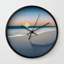 Morning on the beach Wall Clock