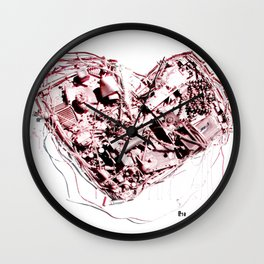 My Heart (all mixed up) Wall Clock