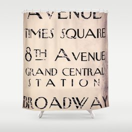 New York City Street Sign Shower Curtain