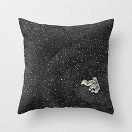 ALONE AT NIGHT Throw Pillow