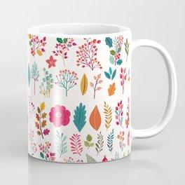 Colorful fall orange pink ivory holly berries floral Coffee Mug