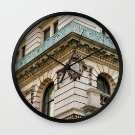 Mint and Cream New York City Wall Clock