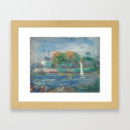The Blue River Oil Painting by Auguste Renoir Framed Art Print
