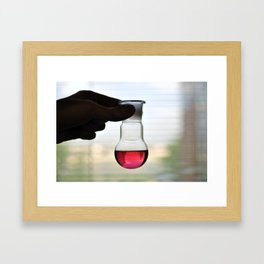 Dissolved iodine Framed Art Print
