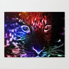 Abstract Cat Canvas Print