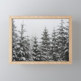 Winter Forest Fir Tree Snow II - Nature Photography Framed Mini Art Print