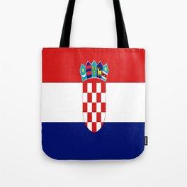 Flag of croatia -croatian, Hrvatska,croat,croacia,Zagreb,split,rijeka,osijek. Tote Bag