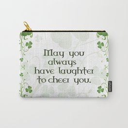 Irish Blessing Shamrock Border Carry-All Pouch