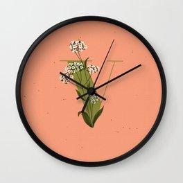 V for Verbena Wall Clock