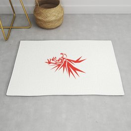 Abstract Red Eagle Rug