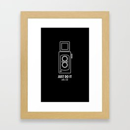 Just do it with a TLR Framed Art Print