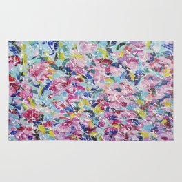 Abstract floral painting 2 Rug