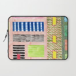 Friendly Pattern Mix On Pink Laptop Sleeve