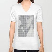hepburn V-neck T-shirts featuring Hepburn by Robotic Ewe
