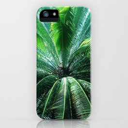 Large Green Palm Tree Leaves iPhone Case