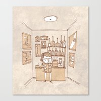 bar Canvas Prints featuring Bar by Pedro Hamdan