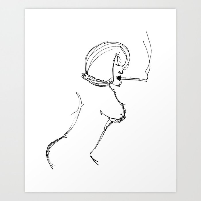 """A Simple Lady"" Art Print"