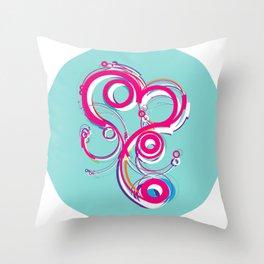 bebys_nm : line_composition_002 Throw Pillow