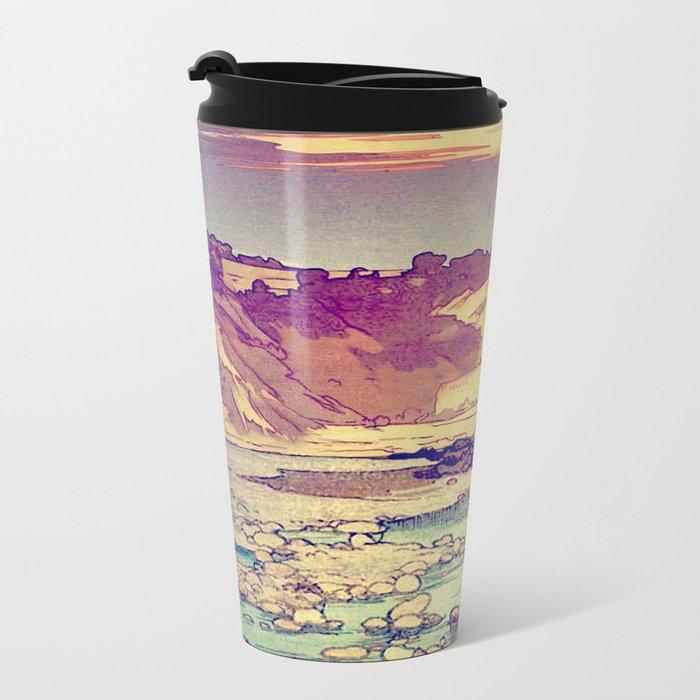 Sunset at Yuke Metal Travel Mug