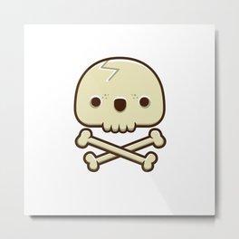 12# Skull Metal Print
