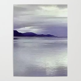 River View in Purple Poster