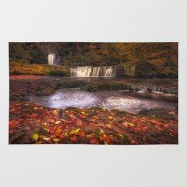 Sgwd Ddwli Isaf waterfalls South Wales Rug