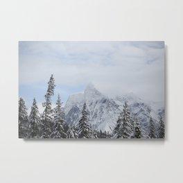 Man and Mountains Metal Print