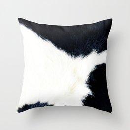 Black & White Spots (Cow Print) Throw Pillow