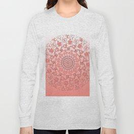 Living coral coffee mandala No1 Long Sleeve T-shirt