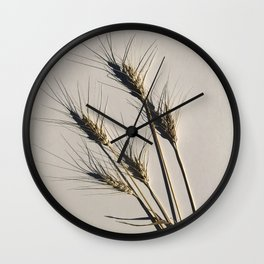 prairie wheat Wall Clock