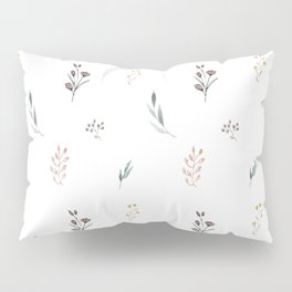 Little botanics pastel pattern Pillow Sham