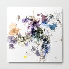 """""""Oops"""" Pastel Paint  Splatter Abstract Metal Print"""