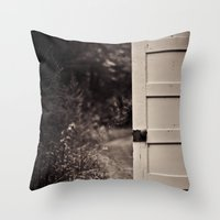 door Throw Pillows featuring Door by Vintage Rain Photography