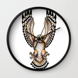 Osprey Swooping Front Tattoo Wall Clock
