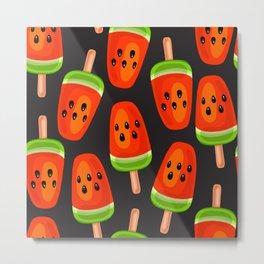Watermelon ice cream pattern Metal Print
