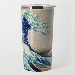Massive Waves Japanese Art Travel Mug