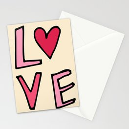 Love Lettering Pearl Pink #Valentines Stationery Cards