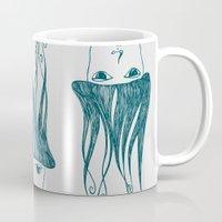 swim Mugs featuring swim by Aleksandra Salevic