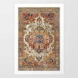 Ferahan Arak  Antique West Persian Rug Art Print