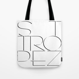 St. Tropez in white with black shadow. Tote Bag