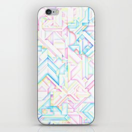 90s Inspired Print // GEOMETRIC PASTEL BRIGHT SHAPES PATTERN GRAPHIC DESIGN iPhone Skin