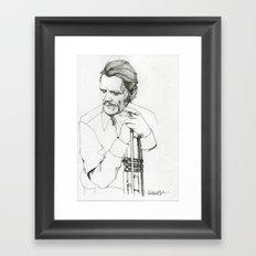 Chet Framed Art Print