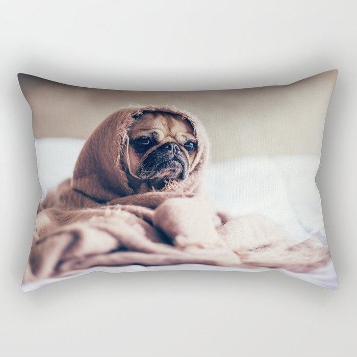 Cute Little Pug Rectangular Pillow